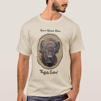 Buffalo Eating Light Oval T-Shirt