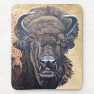 Buffalo Eating Mouse Pad