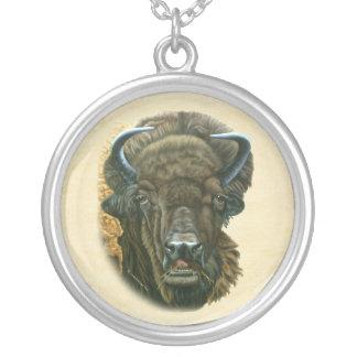 Buffalo Eating Pendants