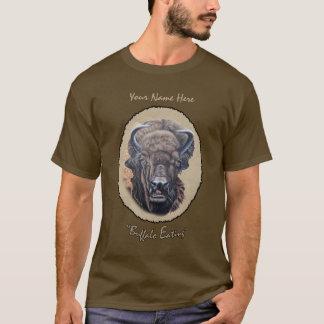 Buffalo Eating Oval T-Shirt