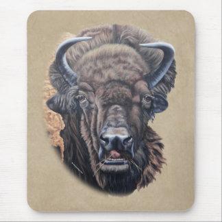 Buffalo Eating Tan Texture Mouse Pad
