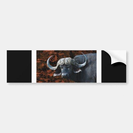 Buffalo fantasy art car bumper sticker