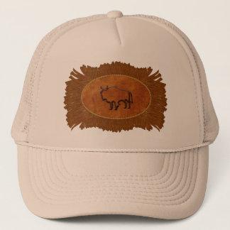 Buffalo Faux Suede Fringe Trucker Hat