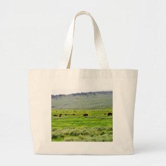 Buffalo Field Large Tote Bag