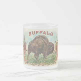 Buffalo Frosted Glass Coffee Mug