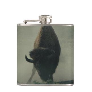 Buffalo Fun in the Dust! Hip Flask