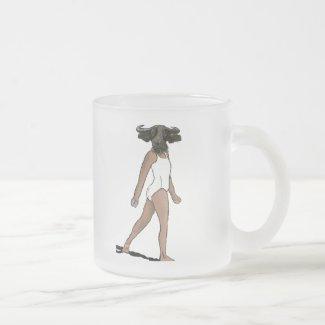 Buffalo Gal Frosted Glass Coffee Mug