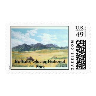 Buffalo, Glacier National Park 001, Buffalo, Gl... Postage