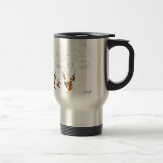 Buffalo goes floral travel mug