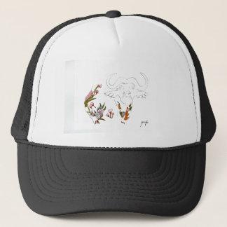 Buffalo goes floral trucker hat