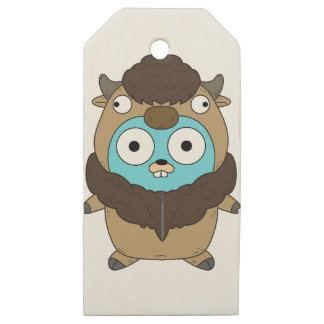 Buffalo Gopher Wooden Gift Tags