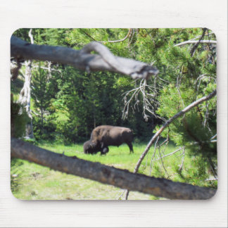 Buffalo Grazing in the Trees Mouse Pad