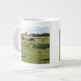 Buffalo Grazing Large Coffee Mug