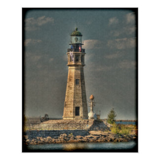 Buffalo Harbor Lighthouse Poster/Print