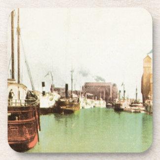 Buffalo Harbor Vintage Beverage Coaster