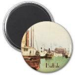 Buffalo Harbor Vintage Magnet