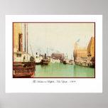 Buffalo Harbor Vintage Print