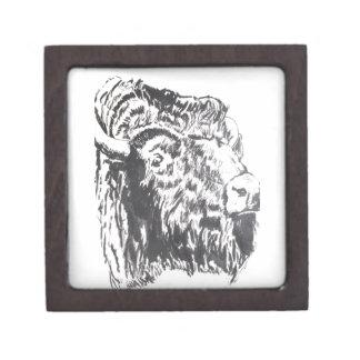 "Buffalo head 2"" Square Gift Box"