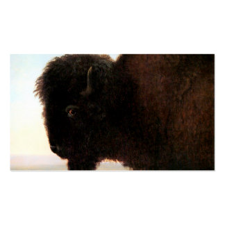 Buffalo Head art Albert Bierstadt bison painting Double-Sided Standard Business Cards (Pack Of 100)