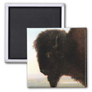 Buffalo Head art Albert Bierstadt bison painting Magnet
