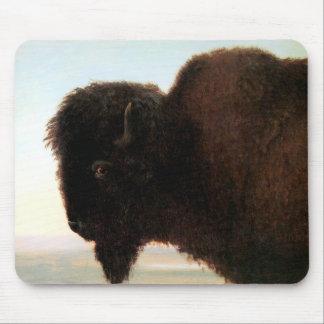 Buffalo Head art Albert Bierstadt bison painting Mouse Pad