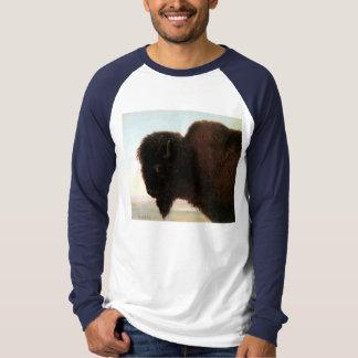 Buffalo Head art Albert Bierstadt bison painting T-Shirt