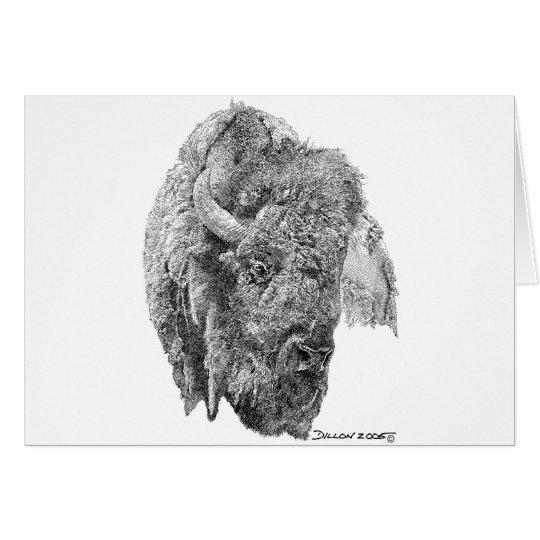 Buffalo Head Card