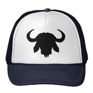Buffalo head horns trucker hat