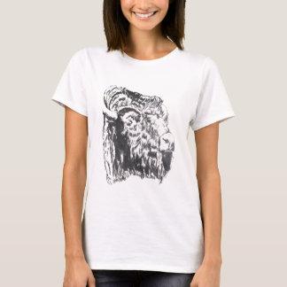 Buffalo Head Ladies Basic T-Shirt