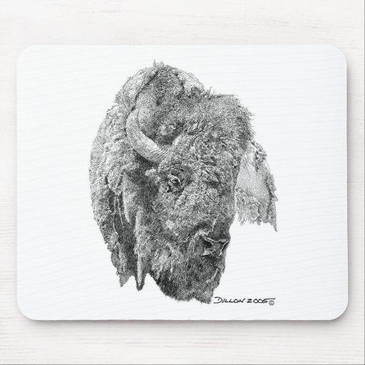 Buffalo Head Mouse Pad