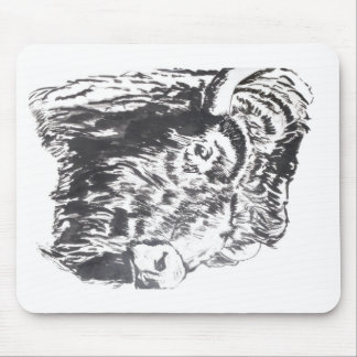 Buffalo Head Mousepad Horizontal