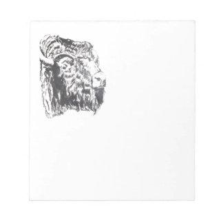 Buffalo Head Notepad