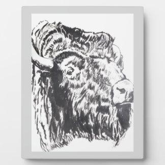 Buffalo Head Plaque