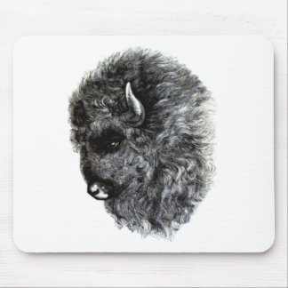 Buffalo Head - The Mighty American Buffalo! Mouse Pad