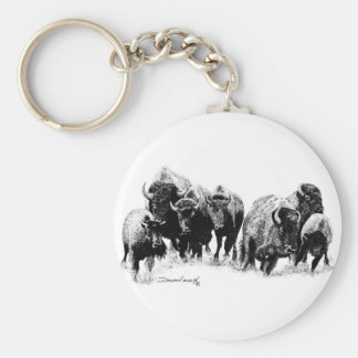 Buffalo Herd Keychain