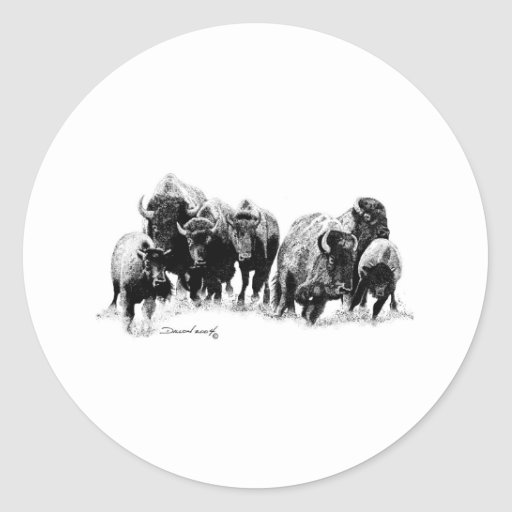 Buffalo Herd Stickers