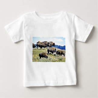 Buffalo Herd - Yellowstone National Park Baby T-Shirt