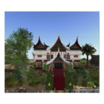 Buffalo Horn Minangkabau Architecture Print