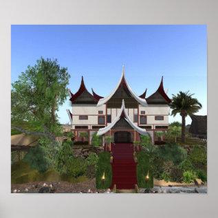Buffalo Horn Minangkabau Architecture Print at Zazzle