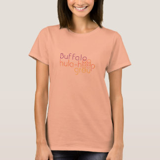 Buffalo hula-hoop group - simple T-Shirt