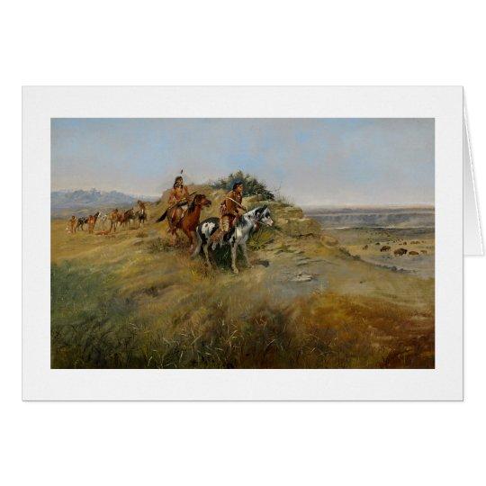 Buffalo Hunt, 1891 (oil on canvas) Card