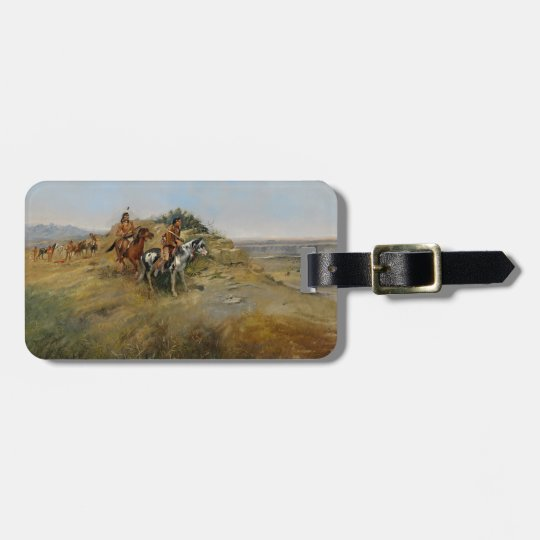 Buffalo Hunt, 1891 (oil on canvas) Luggage Tag