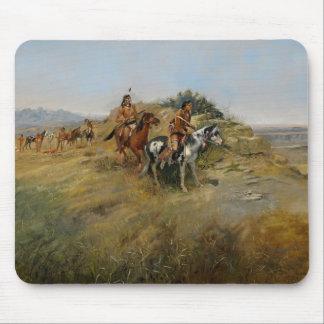 Buffalo Hunt 1891 oil on canvas Mousepads