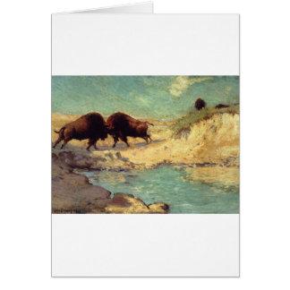 Buffalo Hunt by Robert Julian Onderdonk Card