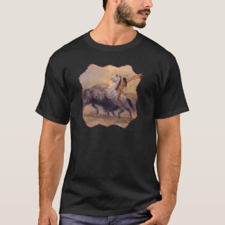 Buffalo Hunt Mens Dark T-shirt