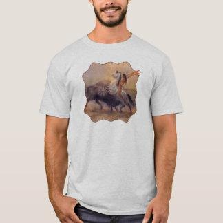Buffalo Hunt Mens Tshirt