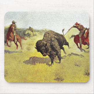 Buffalo Hunt Mousepads