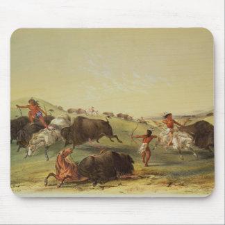 Buffalo Hunt Mouse Pad