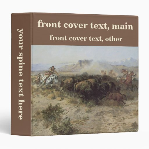 Buffalo Hunt No. 26 by CM Russell, Vintage Indians Binder