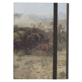 Buffalo Hunt No. 26 by CM Russell, Vintage Indians Cover For iPad Air